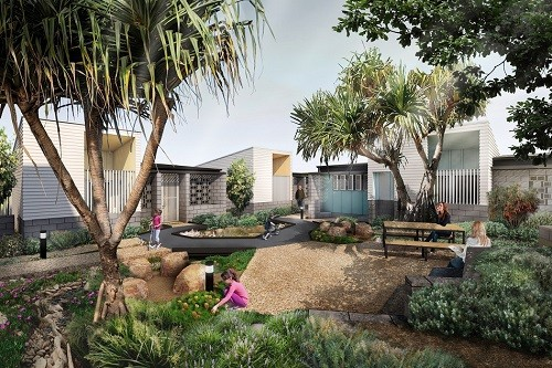 Artists impression of Gold Coast Social Housing Demonstration Project by Anna OGorman