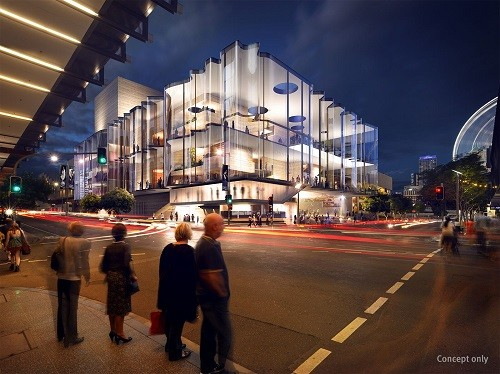 Artists impression of New Performing Arts Venue at QPAC by Blight Rayner + Snøhetta